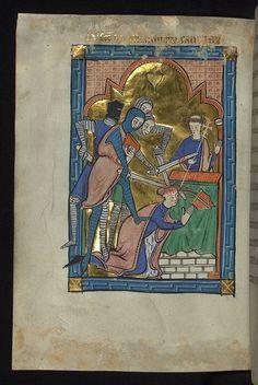 Carrow Psalter, Martyrdom of Thomas Becket, Walters Manuscript W.34, fol. 15v | Flickr - Photo Sharing!