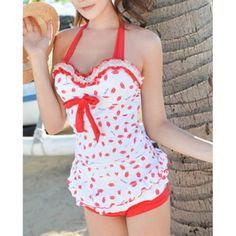 lip bathing suit| $2301  kawaii gyaru otome kei bathing suit swimsuit fachin swimwear under30 free shipping dresslily bow lace