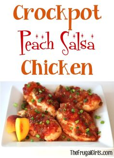 #Crockpot Peach Salsa Chicken #slowcooker #recipes