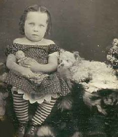 Mourning image - girl and deceased dog