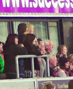 charity football match :) eleanor is so cute! {gif}