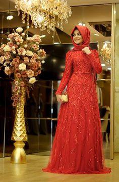 Pınar Şems - Yağmur Abiye Kırmızı