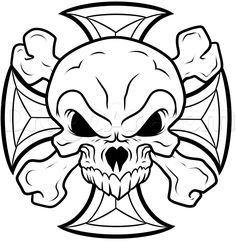 how to draw an iron cross skull step 9