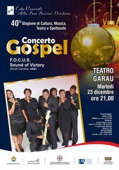 F.O.C.U.S SOUNDE OF VICTORY- CONCERTO GOSPEL – TEATRO GARAU – ORISTANO – MARTEDI 23 DICEMBRE 2014