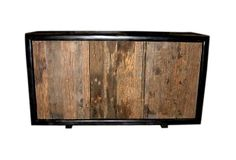 Made of solid teak wood with a black painted frame and reclaimed, natural teak doors, this Karel Media Cabinet from Jeffan International is a gorgeous blend of retro and modern. on OKL; Kitchen Buffet, Sideboard Buffet, Salvaged Wood, Teak Wood, Furniture Making, Home Furniture, Home Goods Decor, Home Decor, Entry Tables
