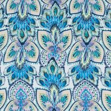 Dresden+Blue+and+Tropical+Green+Printed+Stretch+Cotton+Poplin