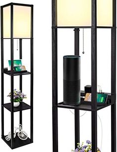 Amazing offer on Shelf Floor Lamp 2 Fast Charging USB Ports 1 Power Outlet, LED Shelf Floor Lamp, Shelf & Storage & LED Floor Lamp Combination, Modern Standing Light Living Room, Bedroom online - Toplikestore Contemporary Living Room Furniture, Living Room Modern, Living Room Designs, Cheap Floor Lamps, Led Floor Lamp, Tv Stand With Led Lights, Floor Lamp With Shelves, Storage Shelves, Shelf