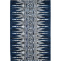 Featuring a muted geometric motif, this lovely rug lends a touch of pattern to your living room or foyer.Product: Rug...