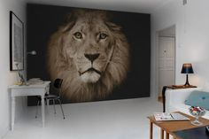 Lion leeuw wall mural fotobehang online #behang #wallpaper #behangwebshop #online @ www.living-shop.nl.rw.nu