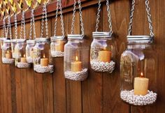 Gartenidee - Beleuchtung mit Windlicht Glas *** DIY Garden Idea with Mason Jar Candles The Effective Pictures We Offer You About DIY Lighting bottle A quality picture can tell you many things. Mason Jar Garden, Pot Mason Diy, Mason Jar Crafts, Pots Mason, Mason Jar Lanterns, Hanging Mason Jars, Jar Candles, Citronella Candles, Candle Lanterns