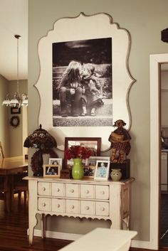 love this picture mounting idea!