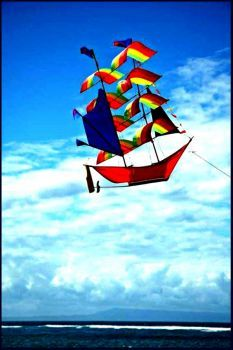 The Summer / Dry Season in Bali is great for flying kites. The wind is so strong it whistles. We dont´want to miss the Kite Festival In Sanur this year! Kite Surf, Go Fly A Kite, Airplane History, Jose Luis Sampedro, Le Vent Se Leve, Vive Le Vent, Kite Making, Kite Designs, Over The Rainbow