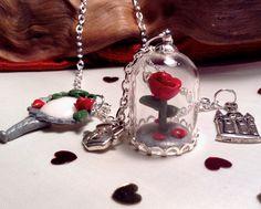 La belle et la b te photobooth accessoires mon photobooth photobooth princesse et contes de - Rose sous cloche la belle et la bete ...
