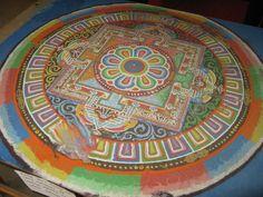 sand mandala, Lo Manthan Nepal, Mustang, Mandala, Tableware, Mustangs, Dinnerware, Tablewares, Mustang Cars, Dishes