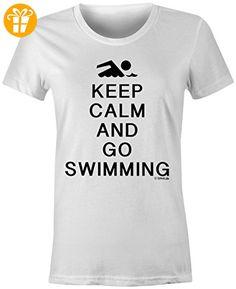 KEEP CALM and go Swimming ☆ Rundhals-T-Shirt Frauen-Damen ☆ hochwertig