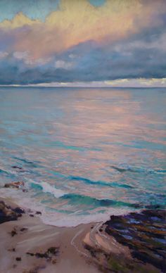 Last Morning in Laguna by Clark Mitchell Pastel ~ 24 x 15