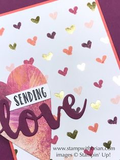 Painted with Love Specialty Designer Series Paer, Stampin' Up!, Brian King, Valentine's Day card