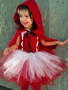 Little Red Riding Hood Tutu Dress Costume by WishingTreeCreation