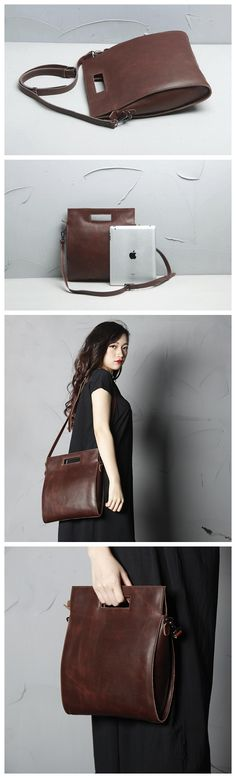 High Fashion Women Leather Tote Bag, Satchel Shoulder Bag, Messenger Bags Leather Goods For Men