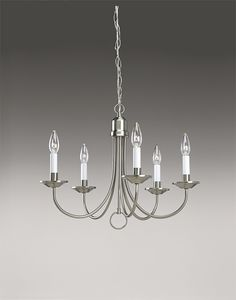 Brushed Nickel 5-Light Chandelier - http://chandelierspot.com/brushed-nickel-5light-chandelier-541041734/