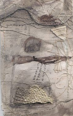 textile piece (by me-jade) Jade Pegler. This is so evocative.it makes me think of a landscape. Sculpture Textile, Textile Fiber Art, Textile Artists, Inspiration Art, Fabric Manipulation, Mix Media, Mixed Media Collage, Fabric Art, Textures Patterns