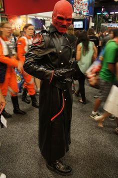 The Red Skull cosplay.