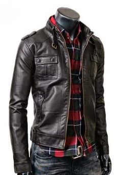 Probably a plain white t-shirt instead of the plaid, but he'd wear this while riding.