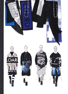 Fashion Sketchbook - fashion illustrations & fabric swatches; graduate fashion design portfolio // Imogine Brown