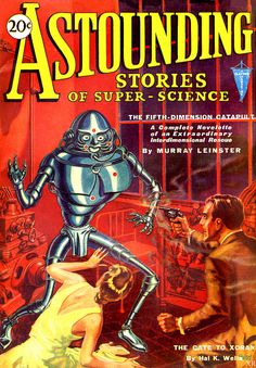 """Astounding Stories - The Fifth Dimension Catapult"" Glossy Vintage Sci-Fi Comic/Magazine Cover Art Print Science Fiction Kunst, Science Fiction Magazines, Retro Robot, Sci Fi Comics, Pulp Magazine, Magazine Covers, Magazine Art, Classic Sci Fi, Sci Fi Books"