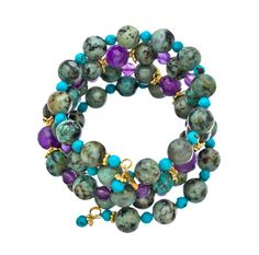 #crafted with #amethyst and #turquoise, this is an #absolutely beautiful #bracelet. #day or night, regardless of what you wear...   http://www.ananasa.com/lolli-wrap.html