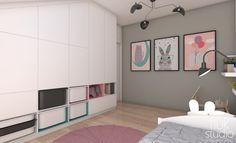 POKÓJ MAŁEJ NATALII/ Piekary Śląskie - Józefka: styl , w kategorii Pokój dziecięcy zaprojektowany przez TIUK Studio