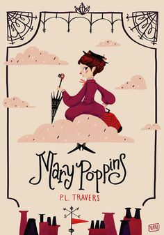 Mary Poppins Book Cover - stampa