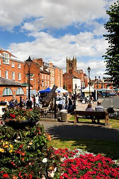 Event Square on Market Day, Ludlow, Shropshire