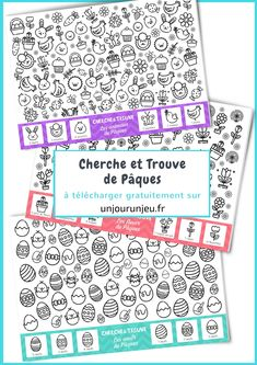 Cherche et Trouve de Pâques Easter Games, Easter Activities, Spring Activities, Activities For Kids, Easter Worksheets, French Worksheets, Worksheets For Kids, Such Und Find, Easter Party