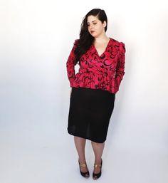 Black 1940s dress size 16