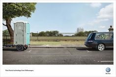 The World's Best Print Ads, 2011-12 | All the Gold Press Winners from Cannes | Adweek.  Park-assist technology, which helps you parallel park, is never more useful than when you've got extremely delicate objects on both sides of you.