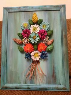 Pine Cone Art, Pine Cone Crafts, Pine Cone Decorations, Flower Decorations, Simple Canvas Paintings, Diy Crafts Hacks, Pinecone, Handmade Flowers, Paper Flowers