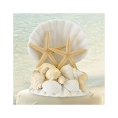 Seashell Cake Topper - Perfect Wedding Gift *** Final call for this special discount  : Baking decorations