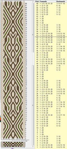 20 tarjetas, 3 colores, repite cada 56 movimientos // sed_306a diseñado en GTT
