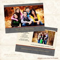 Multipurpose Marketing Flat Card Bundle 1 - Photographer Templates - Photographer Photoshop Templates and Marketing Materials