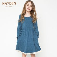 8585ad51fd8 HAYDEN casual dresses for teens girls long sleeve costumes autumn age 13  dresses children clothing 8