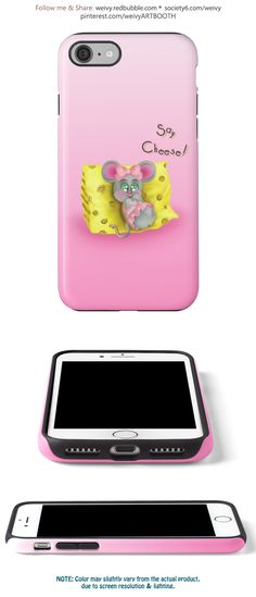 'Tiny Sweet Mice on a Tiny Cheesy Pillow' iPhone Case by We ~ Ivy Mice, Girly Girl, Tech Accessories, Iphone Case Covers, Protective Cases, Bright Colors, Wraps, Cheese, Technology