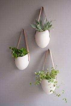 hanging porcelain pots