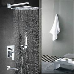 kleines bad einrichten regendusche duschsystem modernes duschen