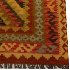Herat Oriental Afghan Hand-woven Vegetable Dye Wool Kilim (4'1 x 6'1)