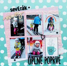 MK-life: Zimní příběh na třicítce My Scrapbook, Project Life, Scrapbooking Ideas, Baseball Cards, Projects, Blue Prints, Tile Projects
