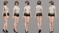 ArtStation - Black & White, SungWoong Kim Zbrush Character, 3d Model Character, Character Modeling, Female Character Design, Character Concept, Character Art, Arte Digital, Figure Drawing Reference, 3d Pose