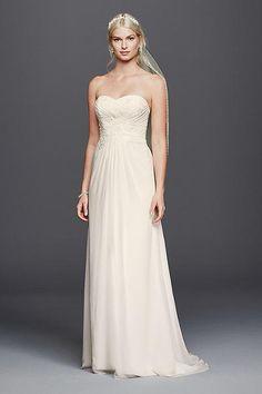 Lace Sweetheart Neckline Chiffon Wedding Dress 4XLWG3793