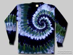 Swirl Tie Dye Long Sleeve T-Shirt - Spruce   Sundog: Custom t-shirt designer, screen printer and manufacturer. Fairfax VA.