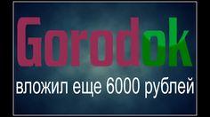 GorodOK 150% за 5 дней. Вложил в проект еще 6000₽